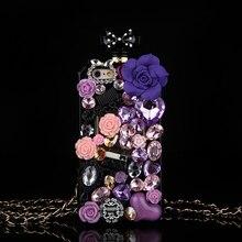 Gorące Anna Bling kryształowe etui na butelki perfum dla iPhone 12 Mini XS 11 Pro Max XR XS X 6 6s 8 7 Plus SE 2020 Samsung uwaga 10 Plus