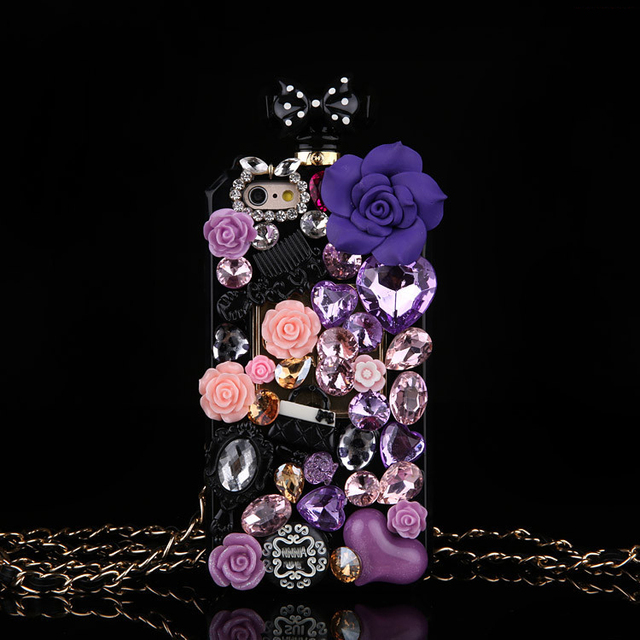Hot Anna Bling Kristallen Parfumflesje Cases Voor Iphone 12 Mini Xs 11 Pro Max Xr Xs X 6 6S 8 7 Plus Se 2020 Samsung Note 10 Plus