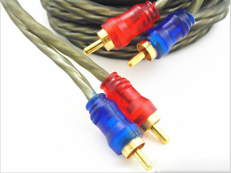 Cable amplifier subwoofer amplifier Subwoofer Tube machine Audio Video Cable Male to Male for CD connect