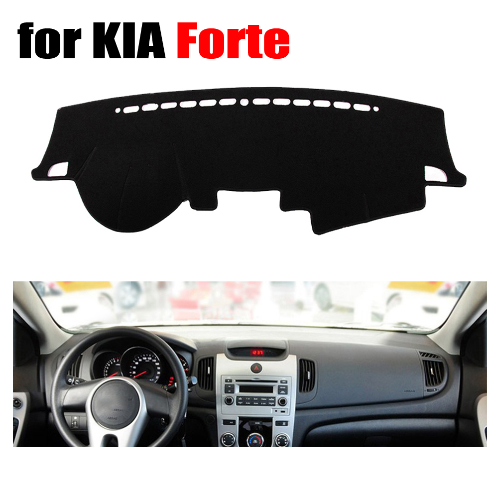 Car dashboard cover mat for KIA Forte all the years Left steering wheel dashmat pad dash covers auto dashboard accessories