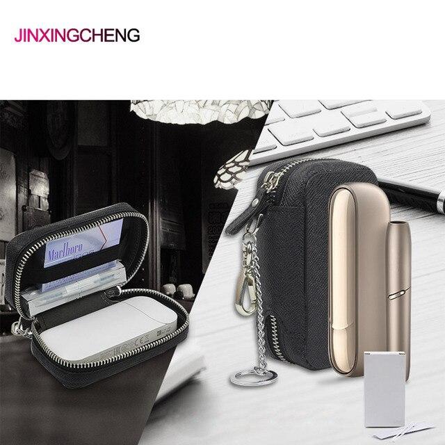 JINXINGCHENG funda a la moda para iqos 3,0, funda para iqos 2,4 Plus, Funda de cuero con cremallera, billetera
