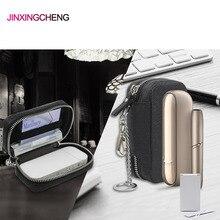 JINXINGCHENG אופנה מחזיק כיסוי עבור iqos 3.0 מקרה עבור iqos 2.4 בתוספת עור מקרה נשיאת תיקי רוכסן ארנק תיבה