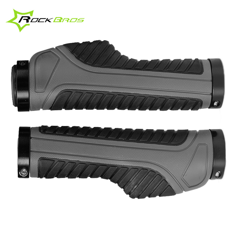 Rockbros Mountain Bike Grips Rubber Anti skid Lock On Bicycle Handlebar Handle Bar Grips Cycling Grips Accessories 3 Colors|Bicycle Grips| |  - title=