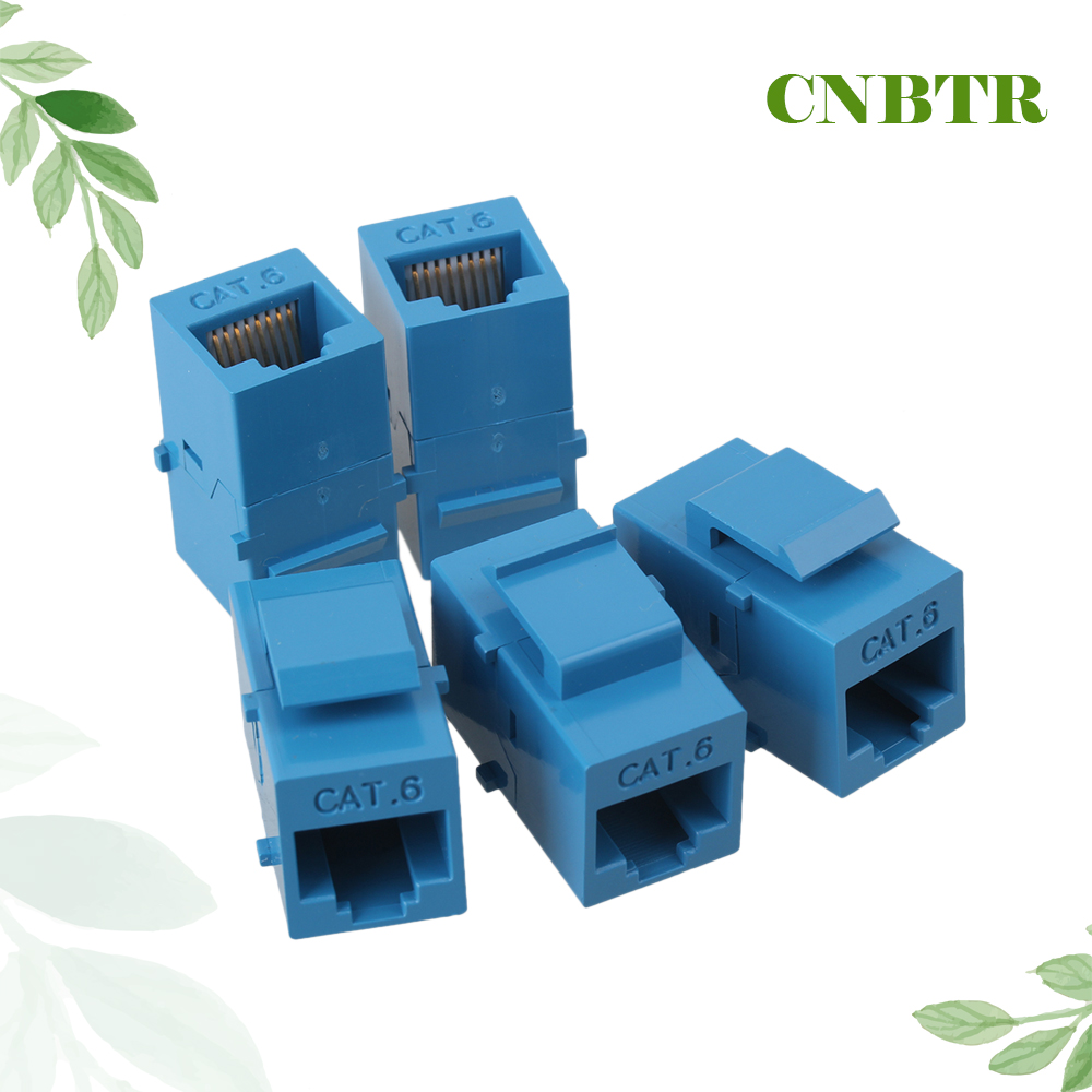 CNBTR 5pcs Cat6 RJ45 Gigabit Coupler Female Adapter Shielded For Keystone Panel Blue 5pcs lot pc928 sop 14 optical coupler oc optocoupler