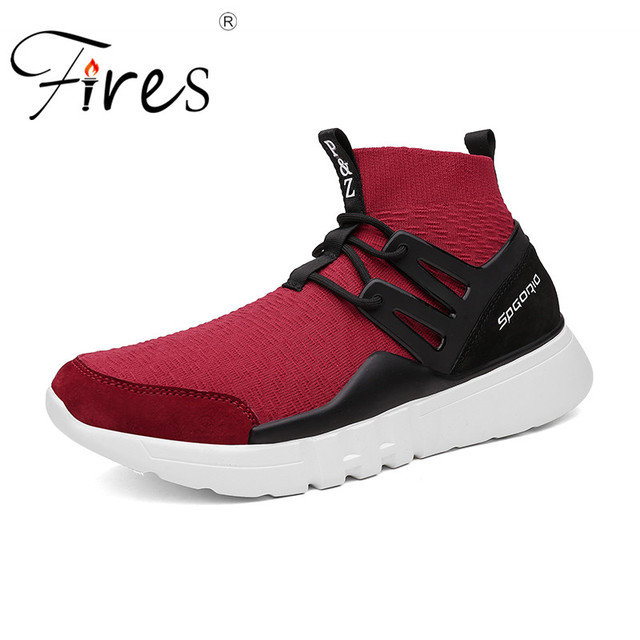Fires Male Outdoor Walking Shoes Patchwork Running Shoes Solid Color Sport Shoes Lightweight Jogging Sneakers Mens Flat Shoes