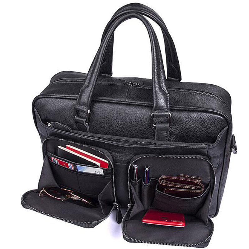 Lexeb Leather Tote Briefcases For Men Attache 15 6 Laptop Bag Man Office Bags College Back To School Messenger Black In From Luggage