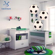 Уникальная люстра с футбольной символикой абажур для лампы Потолочный абажур для украшения дома и сада