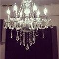 Современные хрустальные люстры  светильники  прозрачные K9 хрустальные люстры для гостиной  кухни  канделябро