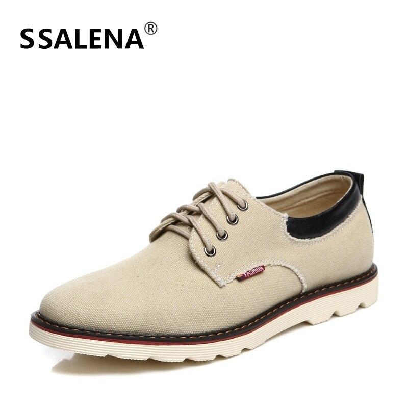 Chaussures décontractées à lacets en toile pour hommes chaussures plates légères à bout pointu chaussures de travail de bureau confortables AA20592