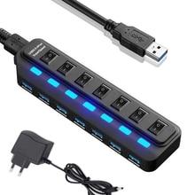 Multiple USB Splitter US/EU/AU/UK Power Adapter