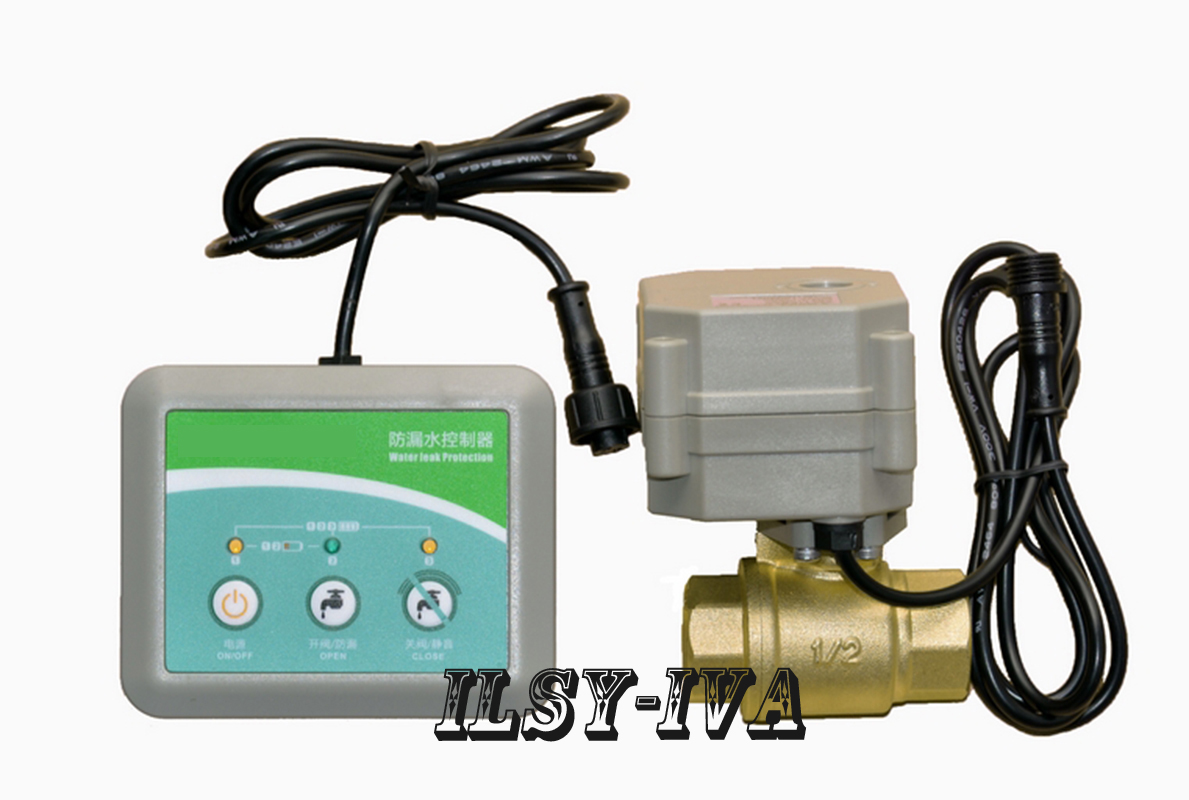 DN15,20,25 Electric shut of Valve for Water Leak Control,2 way brass valve with water leak alarm device russia ukrain romania water leak detector home alarm equipment and auto water shut off system with 1pc 1 2 valve dn15