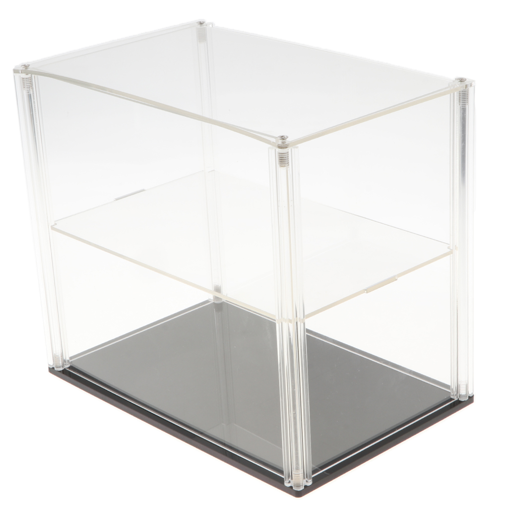 23x15x20 см прозрачная акриловая двухслойная коробка с окошком для демонстрации модели для фигурных игрушек Коллекционная защита шоу чехол ук