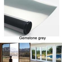 Gemstone серый водонепроницаемый оконная пленка одностороннее зеркало Серебряная изоляция наклейки УФ отторжение конфиденциальности оконные тонированные пленки