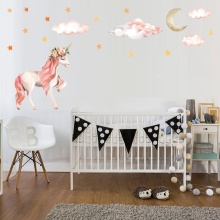 Unicorn and Crescent Wall Stickers
