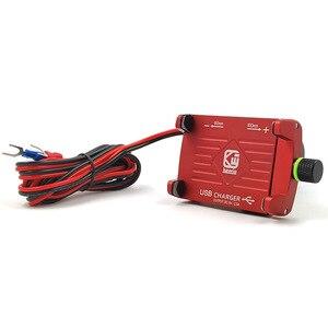 Image 5 - אלומיניום עם USB טעינת פונקצית אופנוע אופניים מחזיק טלפון סוגר עבור Iphone xs xr טלפון מחזיק GPS מכשיר 3.5  6.2 אינץ