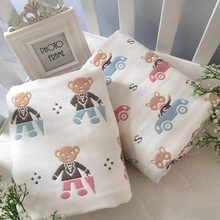 clownduck 1pc 100% Cotton Newborn Swaddles 0-12Months Soft