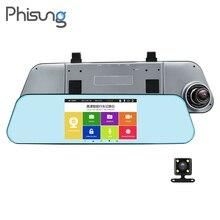Phisung T29 двойной регистраторы Зеркало заднего вида резервного копирования Камера 5 «IPS Сенсорный экран 1080 P автомобиль тире Камера с парковкой ADAS ночное видение