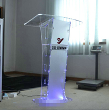 Factory Direct plexiglass podium wedding occasions, the master of ceremonies speech station acrylic tables