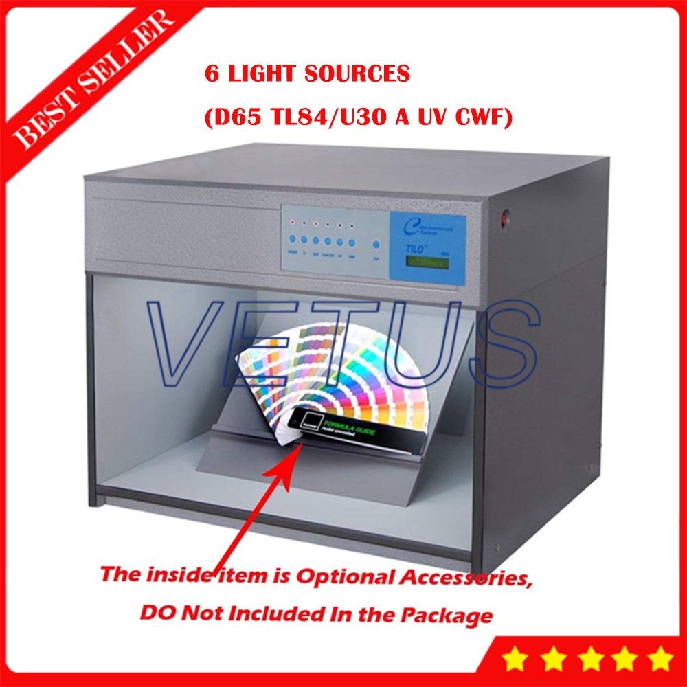 6 источников света D65 TL84 U30 УФ вут Цвет оценки световой короб Цвет соответствия Кабинета M60 дополнительно 220V 110V
