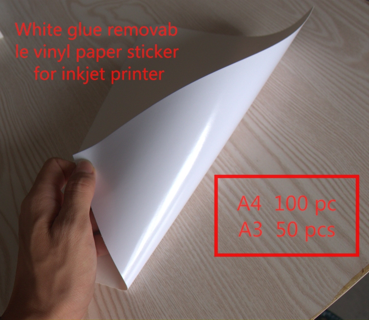 White Removable Adhesive Vinyl Paper