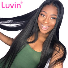 Luvin 13*4 Straight Long Lace Front Human Hair Wigs Brazilian Remy Hair Wig For Black Women Pre Plucked With Baby Hair(China)