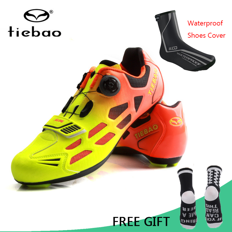 Tiebao Bicycle Cycling Shoes Breathable Men Women Road Bike Racing Athletic Shoes Self Locking Shoes zapatillas ciclismo-in Cycling Shoes from Sports & Entertainment    1