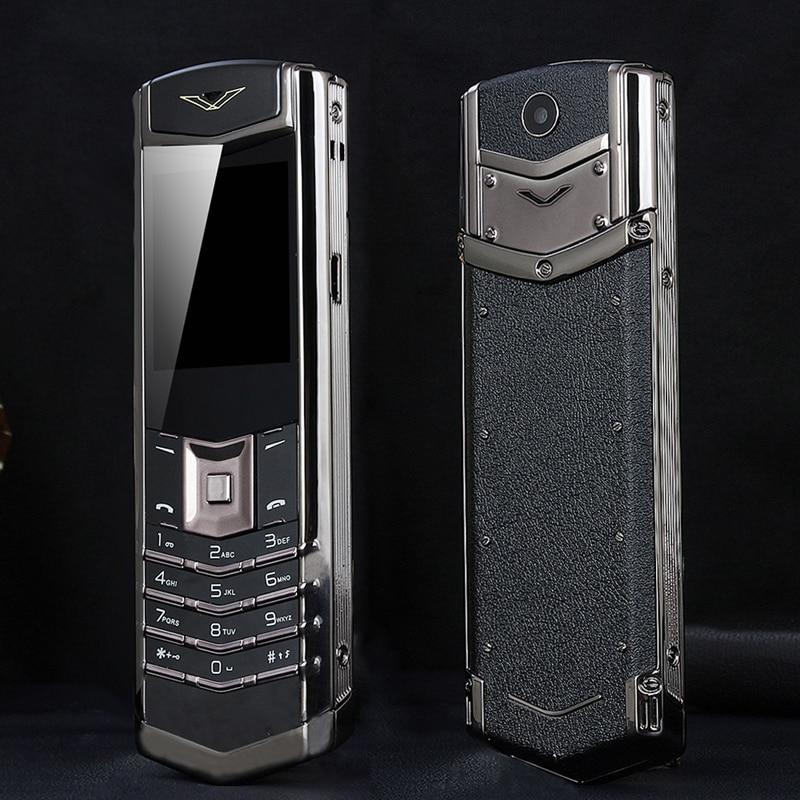 Déverrouiller mampa M6i Bar luxe Bluetooth cadran métal corps en cuir Senior téléphone Mobile simple Sim Super Signal 3800mah P429