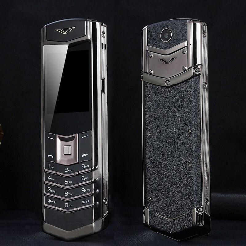 Desbloquear MAFAM M6i Bar Bluetooth Luxo Dial Metal Corpo de Couro Senior Mobile Phone Único Sim Sinal Super 3800mah P429