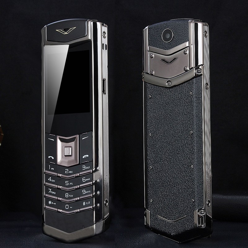 Unlock MAFAM M6i Bar Luxury Bluetooth Dial Metal Body Leather Senior Mobile Phone Single Sim Super Signal 3800mah P429