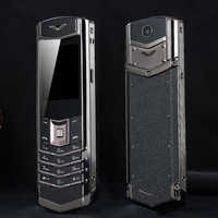 Unlock MAFAM M6i Bar Luxury Bluetooth Dial Metal Body Leather Senior Mobile Phone Single Sim Super Signal 3800mah P429