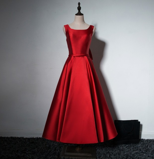86397c329ab New Arrival Sexy Backless Sleevesses A- line Ankle Length Bow Red Women  Quinceanera Dresses Prom Dresses Formal Gowns 2016
