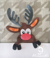 AlinaCraft MORRE DE CORTE DE METAL de Natal Papai Noel da rena Rudolph build up cartão do Scrapbook do OFÍCIO de PAPEL soco faca stencil