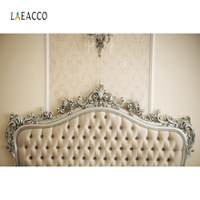Laeacco Headboard Luxurious Low-key Anchor Chandelier Photography Background Customized Photographic Backdrops For Photo Studio grey headboard photography background vinyl cloth print photographic backdrops for photo studio props f 250