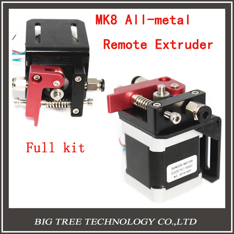 3D Printer Parts MK8 Extruder All metal Remote Extruder Full Kit Nema 17 Step Motor With Bracket