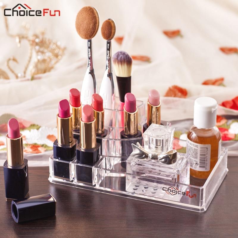 Makeup-Brush-Holder Lipstick-Organizer Tray Perfume Nail-Polish Cosmetic Acrylic Beauty