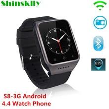 S8 3G Smartphone Bluetooth Smart Watch Android 4.4 MTK6572 Dual Core GPS 2.0MP Camera WCDMA WiFi MP3 MP4 Smartwatch PK DZ09 Q18