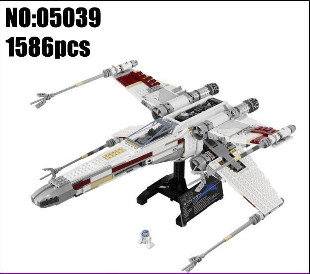 05039 Star 1586 Pcs Wars Series UCS The X-wing Rebel Red Five X-wing Starfighter Set Building Blocks Bricks 10240 lepin