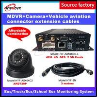 Source factory SD card remote video surveillance 4G GPS mobile DVR reversing image car camera school bus / bus /large truck MDVR