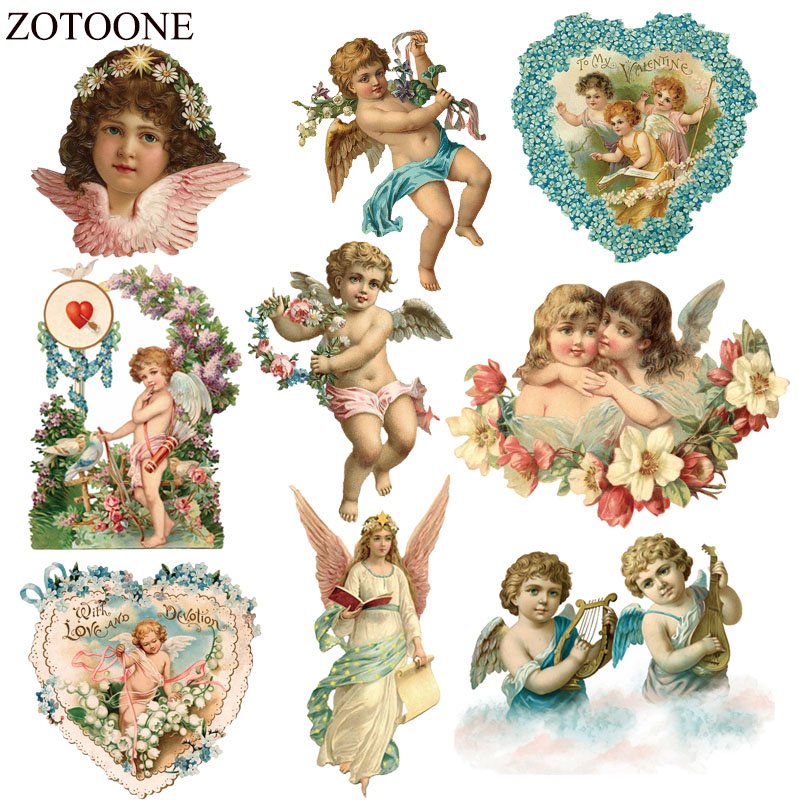 ZOTOONE Iron Sticker Angel Patches For Dress Heat Transfers Stickers A-level Washable Iron-on Clothes Patches Appliques Coats