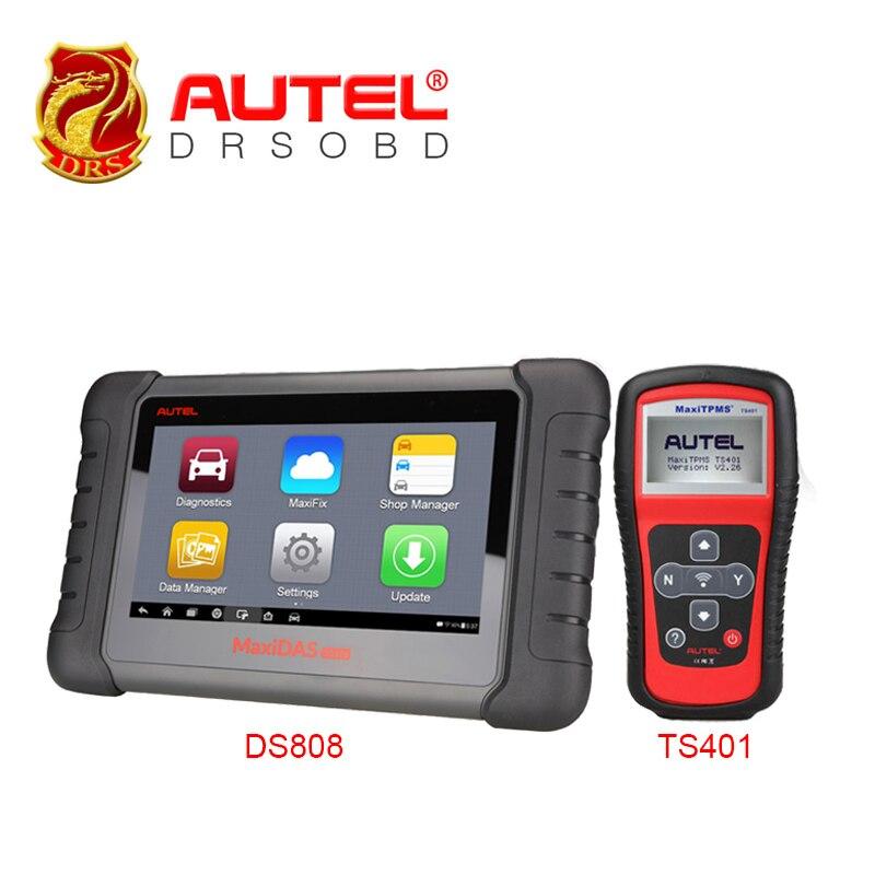 100% Original Autel MaxiDAS DS808 + MaxiTPMS TS401 Update On Official Website Autel DS 808 Automatic WiFi Auto Diagnostic Tool