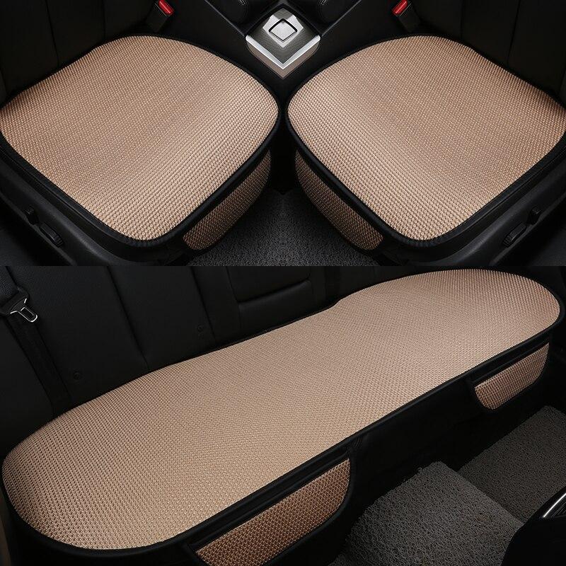 Coussin de siège de voiture antidérapant Ultra-mince en soie glacée housse de siège de voiture protection de décoration intérieure Auto