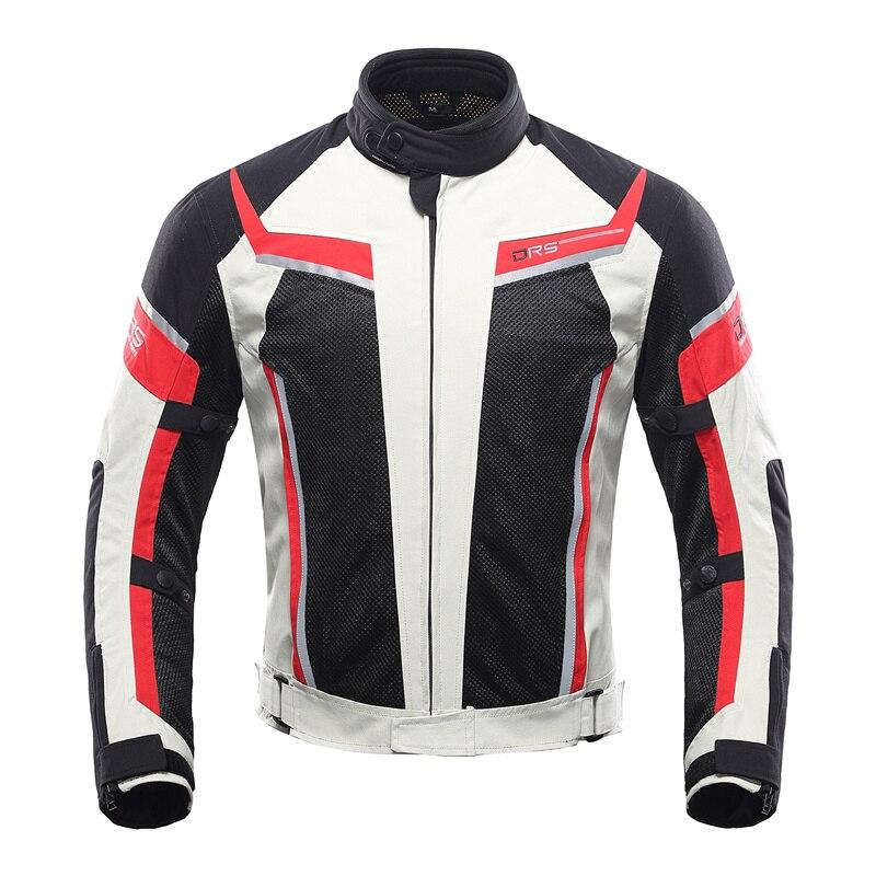 Veste Moto homme DUHAN pantalon maille respirante veste Moto Racing vêtement de protection Moto Blouson Moto noir gris