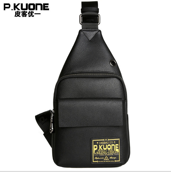 2018 new wave of male breast chest bag front bag Korean casual leather shoulder Messenger bag students male soft bag qiaobao 2018 new korean version of the first layer of women s leather packet messenger bag female shoulder diagonal cross bag