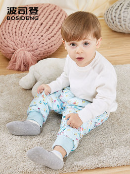 BOSIDENG new winter duck down pants for kids boys & girls winter thicken trousers pattern print high quality T80130016