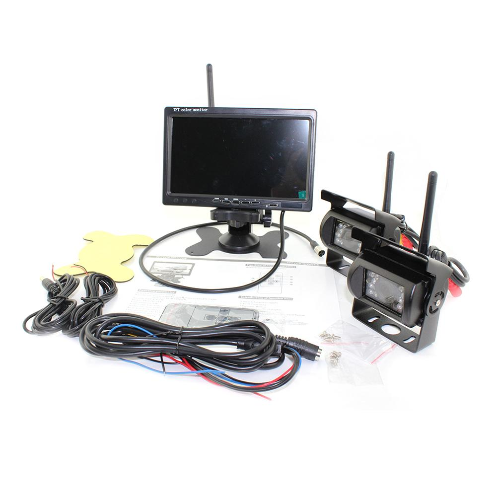 Здесь можно купить  7 Inch LCD Monitor Wireless WIFI Bluetooth Truck Bus Truck Reversing Image Double Recording Camera Black Color High Quality  Автомобили и Мотоциклы