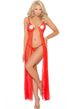Red Lace Valentine Gown LC6920 Sexy Lingerie Pajamas for Women Babydoll Sex Products Women Nightwear Sleepwear