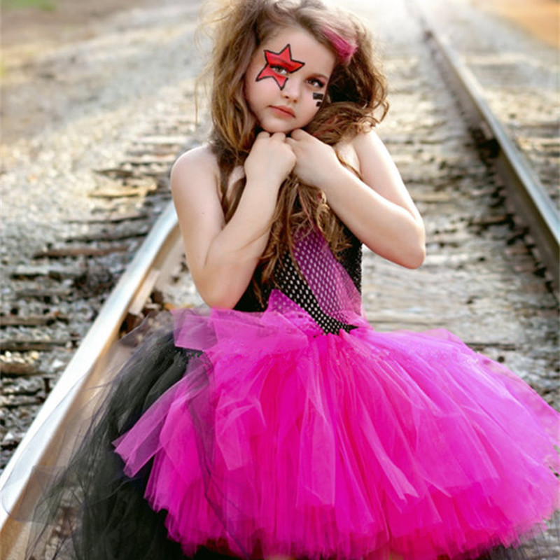 Rockstar Queen Girls Tulle Tutu Dress Christmas Halloween Costume Cosplay Girl Dress Kid Birthday Photo Prop Performance Dresses-in Dresses from Mother ...  sc 1 st  AliExpress.com & Rockstar Queen Girls Tulle Tutu Dress Christmas Halloween Costume ...