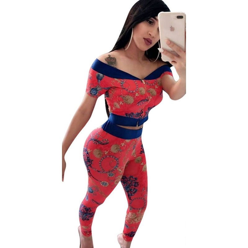 NEW Sweat Pants Women 2018 Fashion Ladies Sexy Bodycon Costume 2piece Strapless Women Jumpsuits Women 2 Piece Set Top And Pants