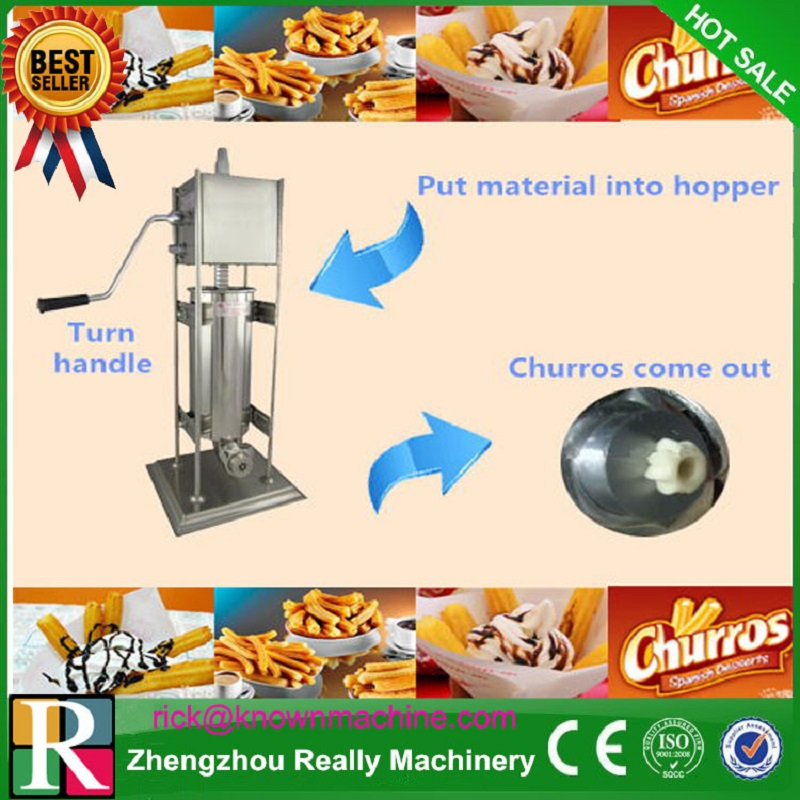 Free Shipping Stainless steel 5L Manual Spanish Donut Churros filling machine