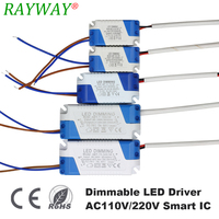 15pcs LED Driver 7 15W Dimmable LEDs Power Supply Unit AC90 265V DC3 85V Light Transformer Power Supply Adapter for Led Lamps